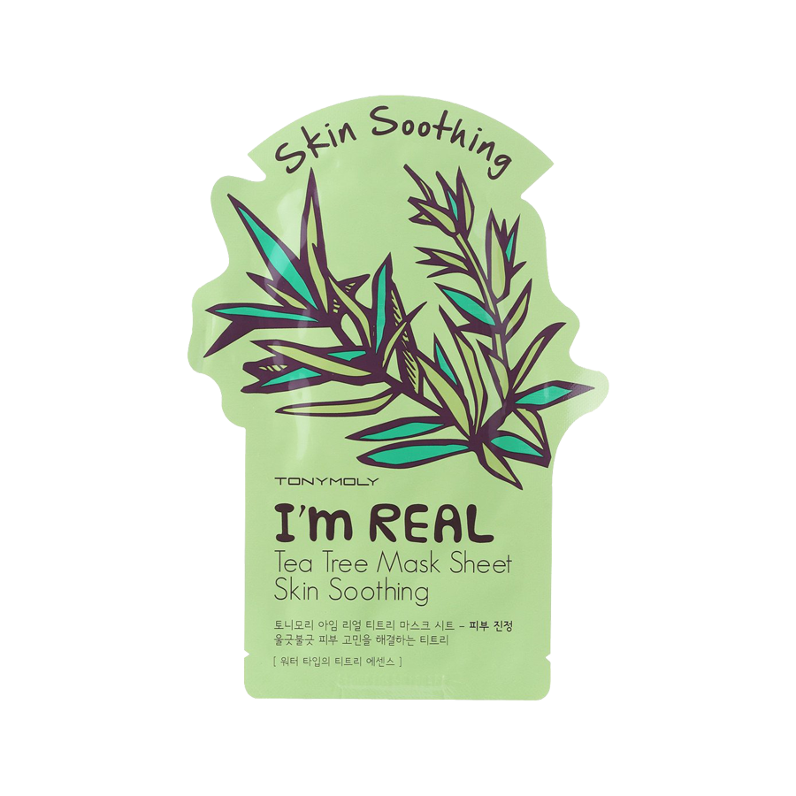What is it?   The Tony Moly I'm Real Tea Tree Mask is perfect for troubled, acne-prone skin. It is infused with tea tree which helps control acne, soothe red and inflamed skin, and helps brighten uneven skin tone.   How to use?   1. After cleansing, tone the skin.  2. Apply mask.  3. Leave on for 20 to 30 minutes.  4. Remove mask and pat any remaining essence into skin.