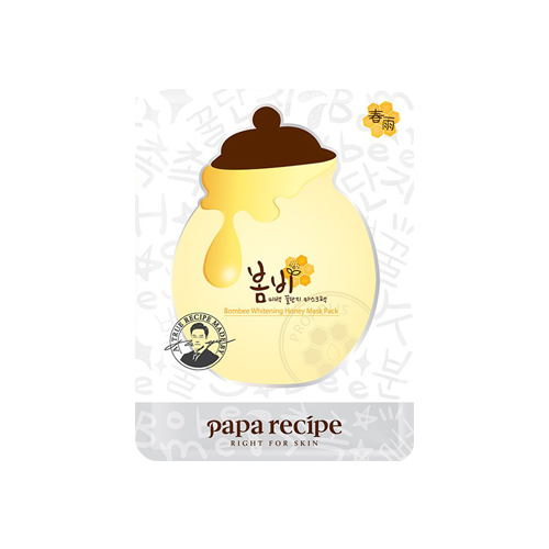 What is it?   The Papa Recipe Bombee Whitening Honey Mask contains diamond powder and glutathione to brighten and nourish the skin. Its all natural ingredients help to replenish, rejuvenate, and hydrate your skin.   How to use?   1. After cleansing, tone the skin.  2. Apply mask.  3. Leave on for 20 to 30 minutes.  4. Remove mask and pat any remaining essence into skin.