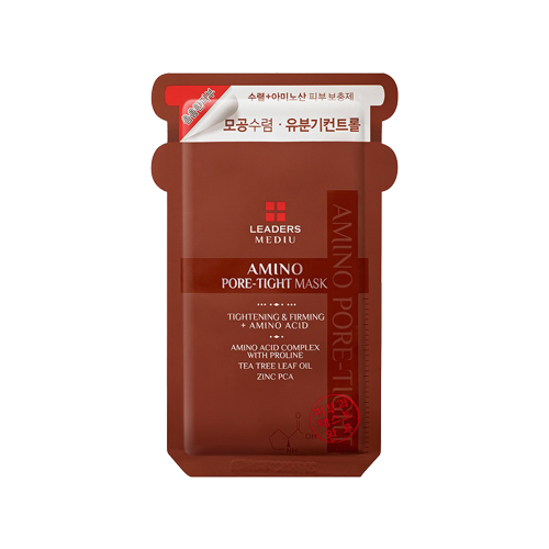 What is it?   The Leaders Mediu Amino Pore-Tight Mask is the answer to excess oil and enlarged pores. It contains tea tree leaf oil and Zinc PCA, as well as 17 different amino acids to help control sebum, tighten skin and shrink large pores.   How to use?   1. After cleansing, tone the skin.  2. Apply mask.  3. Leave on for 15 to 20 minutes.  4. Remove mask and pat any remaining essence into skin.