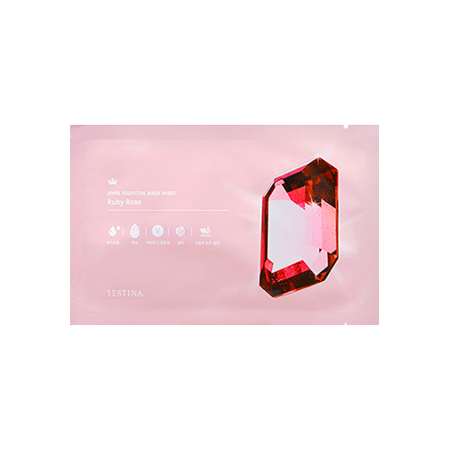 What is it?   The J.Estina Jewel Essential Ruby Rose Mask Sheet helps restore the skin's health and radiance. It contains ruby powder, vitamin C and rose extract to help brighten, hydrate and revitalise the skin.   How to use?   1. After cleansing, tone the skin.  2. Apply the mask and remove the outer protective layer.  3. Leave on for 15 to 20 minutes.  4. Remove mask and pat any remaining essence into skin.