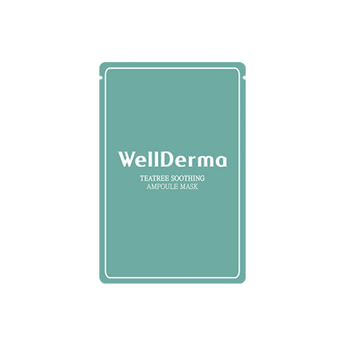 What is it?   The Wellderma Teatree Soothing Ampoule Mask contains tea tree, olive oil, tremella fuciformis and shea butter to help soother, hydrate and brighten dry and dull skin.   How to use?   1. After cleansing, tone the skin.  2. Apply mask.  3. Leave on for 15 to 20 minutes.  4. Remove mask and pat any remaining essence into skin.