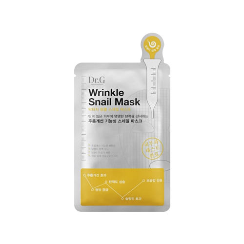 What is it?   The Dr.G Wrinkle Snail Mask Pack is formulated with snail mucus filtrate, adenosine and coenzyme to effectively reduce fine lines and wrinkles.   How to use?   1. After cleansing, tone the skin.  2. Apply mask.  3. Leave on for 15 to 20 minutes.  4. Remove mask and pat any remaining essence into skin.