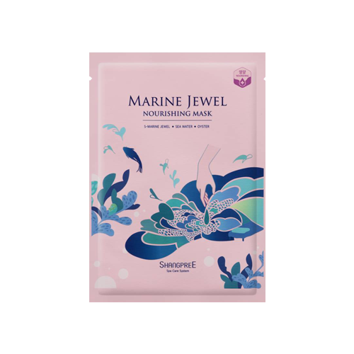 What is it?   The Shangpree Marine Jewel Nourishing Mask is enriched with the DNA of salmon, pearls, oysters and seaweed to nourish, deeply hydrate and restore a youthful glow.   How to use?   1. After cleansing, tone the skin.  2. Remove the protective film and apply mask.  3. Leave on for 10 to 20 minutes.  4. Remove mask and pat any remaining essence into skin.