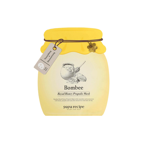 What is it?   The Papa Recipe Bombee Royal Honey Propolis Mask contains honey, propolis and royal jelly extract to richly nourish and moisturise the skin.   How to use?   1. After cleansing, tone the skin.  2. Apply mask.  3. Leave on for 20 to 30 minutes.  4. Remove mask and pat any remaining essence into skin.