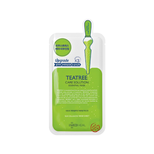 What is it?   The Mediheal Tea Tree Care Solution Essential Mask contains tea tree leaf oil, recutita and centella asiatica extracts to control sebum production and soothe irritated skin.   How to use?   1. After cleansing, tone the skin.  2. Apply mask.  3. Leave on for 10 to 20 minutes.  4. Remove mask and pat any remaining essence into skin.