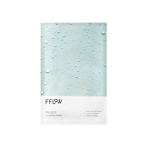 What is it?   The Fflow Oilsoo Calming Mask harnesses the soothing effects of bija seeds to deeply hydrate the skin as well as reduce irritation and redness.   How to use?   1. After cleansing, tone the skin.  2. Apply mask.  3. Leave on for 10 to 20 minutes.  4. Remove mask and pat any remaining essence into skin.