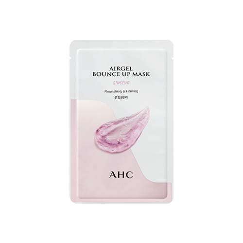 What is it?   The AHC Airgel Bounce Up Ginseng Mask is infused with ginseng collagen, jeju oxygen water and hyaluronic acid to nourish and firm the skin as well as improve elasticity.   How to use?   1. After cleansing, tone the skin.  2. Apply mask.  3. Leave on for 15 to 20 minutes.  4. Remove mask and pat any remaining essence into skin.