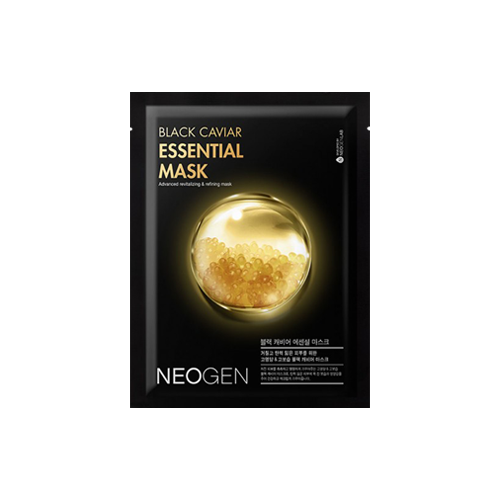 What is it?   The Neogen Black Caviar Essential Mask is contains highly concentrated black caviar extract and adenosine to reduce wrinkles, as well as replenish moisture in the skin.   How to use?   1. After cleansing, tone the skin.  2. Apply mask.  3. Leave on for 10 to 15 minutes.  4. Remove mask and pat any remaining essence into skin.