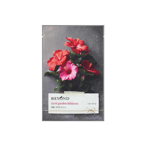 What is it?   The Beyond Herb Garden Hibiscus Mask is infused with hibiscus herbs to give the skin a brightening effect as well as soothe and moisturise.   How to use?   1. After cleansing, tone the skin.  2. Remove the protective film and apply mask.  3. Leave on for 15 to 20 minutes.  4. Remove mask and pat any remaining essence into skin.