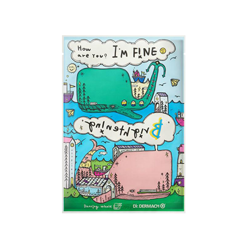 What is it?   The Dancing Whale I'm Fine Brightening Sheet Mask contains sea mucin, collagen and hyaluronic acid to brighten, soothe and moisturise the skin.   How to use?   1. After cleansing, tone the skin.  2. Apply mask.  3. Leave on for 10 to 20 minutes.  4. Remove mask and pat any remaining essence into skin.