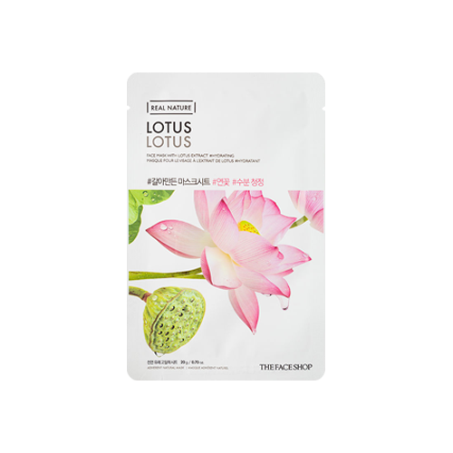 What is it?   The The Face Shop Real Nature Lotus Face Mask is infused with essence extracted from lotus flower to moisturise, and give tired, rough skin a boost of radiance.   How to use?   1. After cleansing, tone the skin.  2. Apply mask.  3. Leave on for 10 to 15 minutes.  4. Remove mask and pat any remaining essence into skin.
