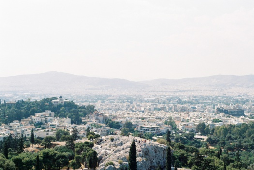 View of Athens Greece from the Parthenon
