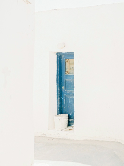 A door in Pyrgos in Santorini, Greece