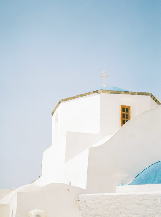 Church in Pyrgos in Santorini Island, Greece