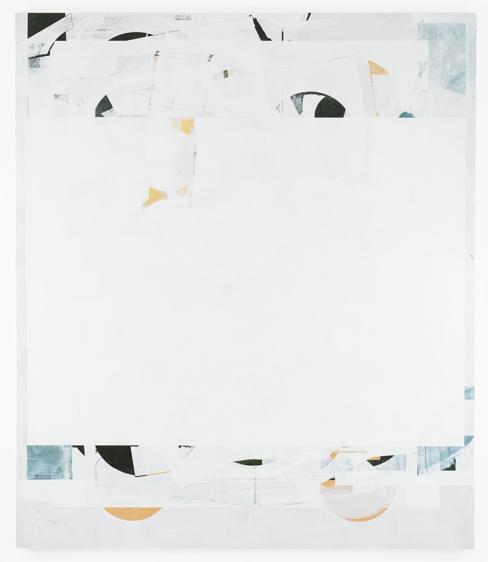 Composite 12 (concede), 2016  Acrylic and oil on wood  77 x 66 inches  195.6 x 167.6 cm