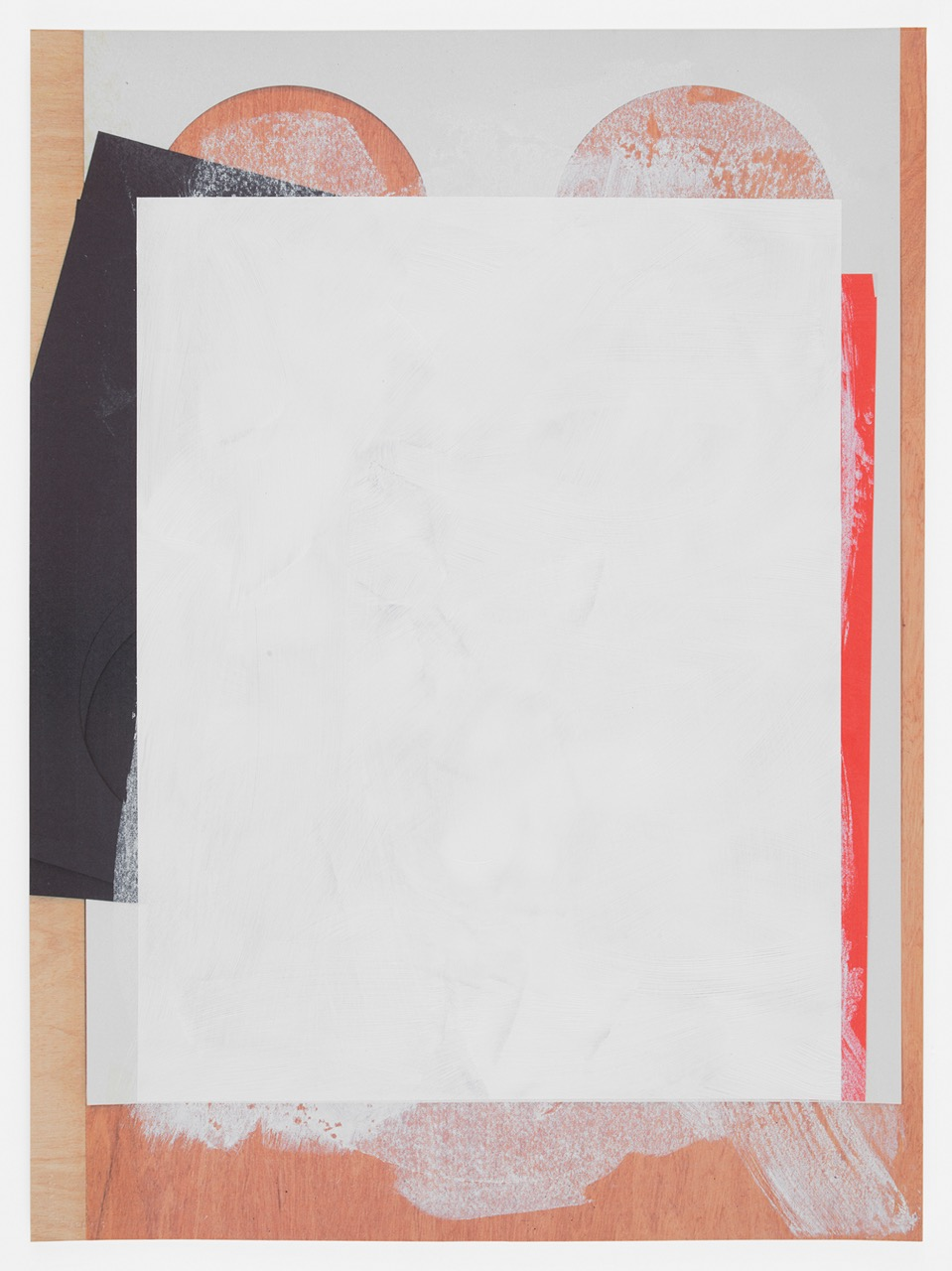 Untitled Composite, 2016  Oil and UV cured ink on paper  30 x 22 inches  76.2 x 55.9 cm