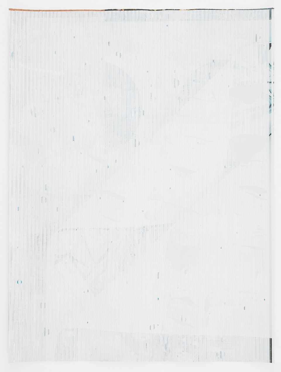 Untitled Composite, 2016  Oil and UV cured ink on paper  34 x 25-1/2 inches  86.4 x 64.8 cm