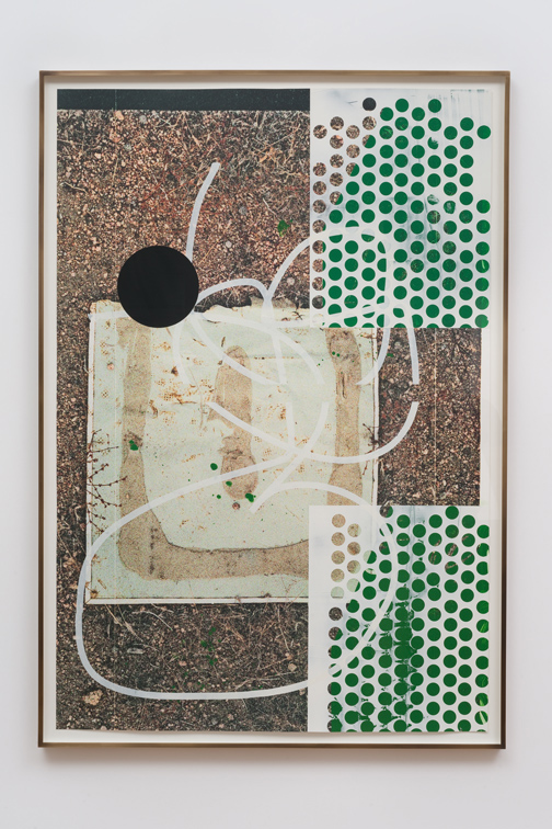 Salton Sea (glue), 2012  Acrylic, oil and UV cured ink on paper  65 x 44 inches  165.1 x 111.76 cm