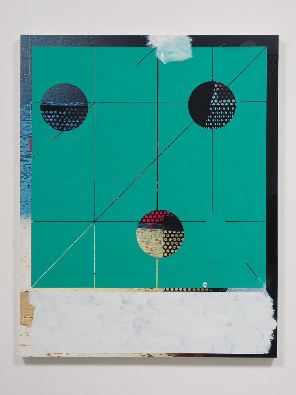 Salton Sea (wall), 2012  Acrylic, oil and UV cured ink on canvas over panel  60 x 48 inches  152.4 x 121.92 cm