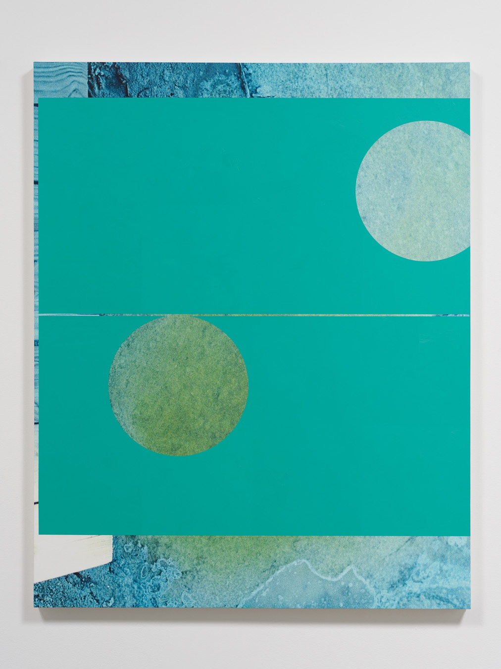 Salton Sea (dock), 2012  Oil and UV cured ink on canvas over panel  60 x 48 inches  152.4 x 121.92 cm