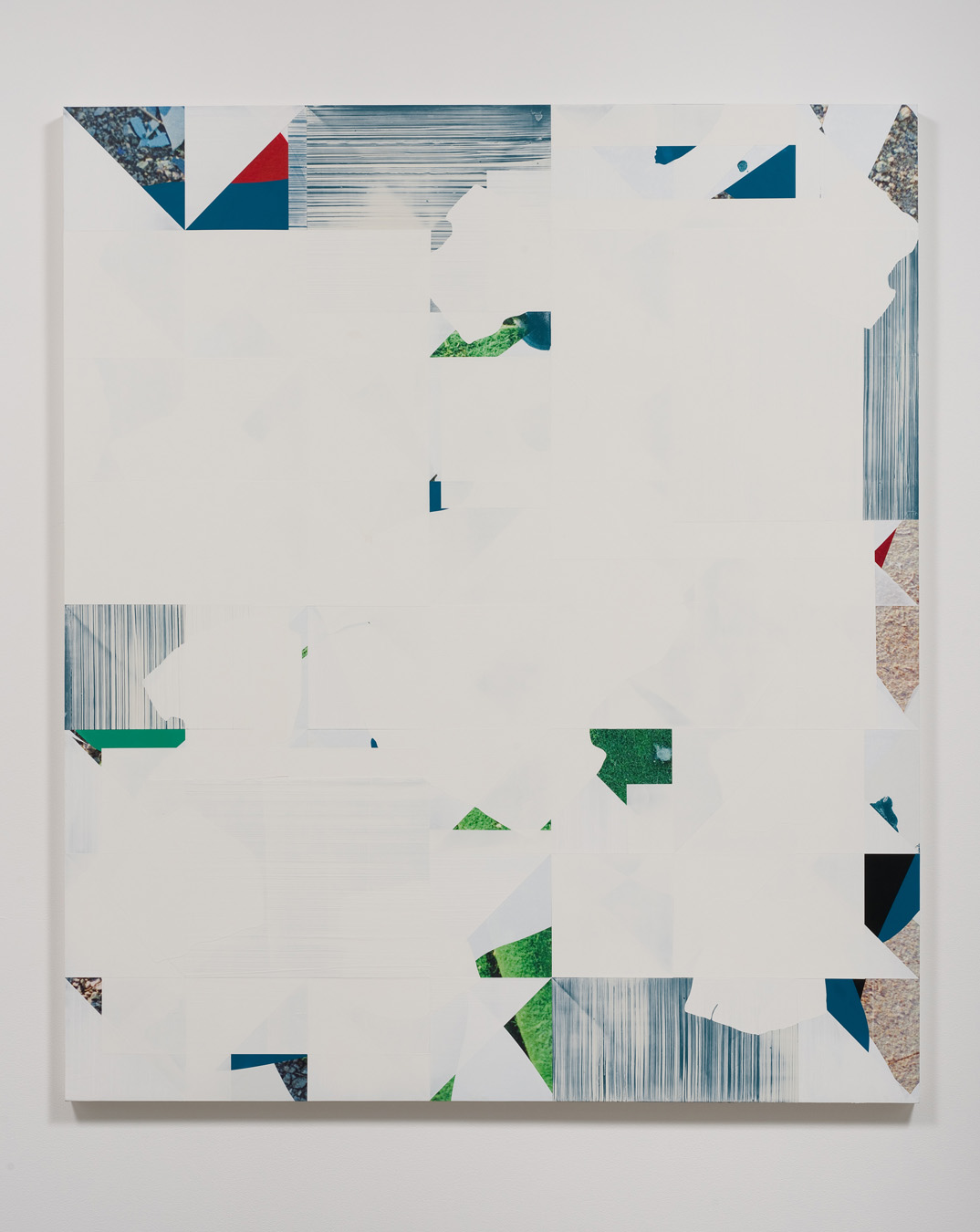 Salton Sea (Green Rug), 2012  Acrylic, oil and UV cured ink on canvas over panel  77 x 66 inches  195.58 x 167.64 cm