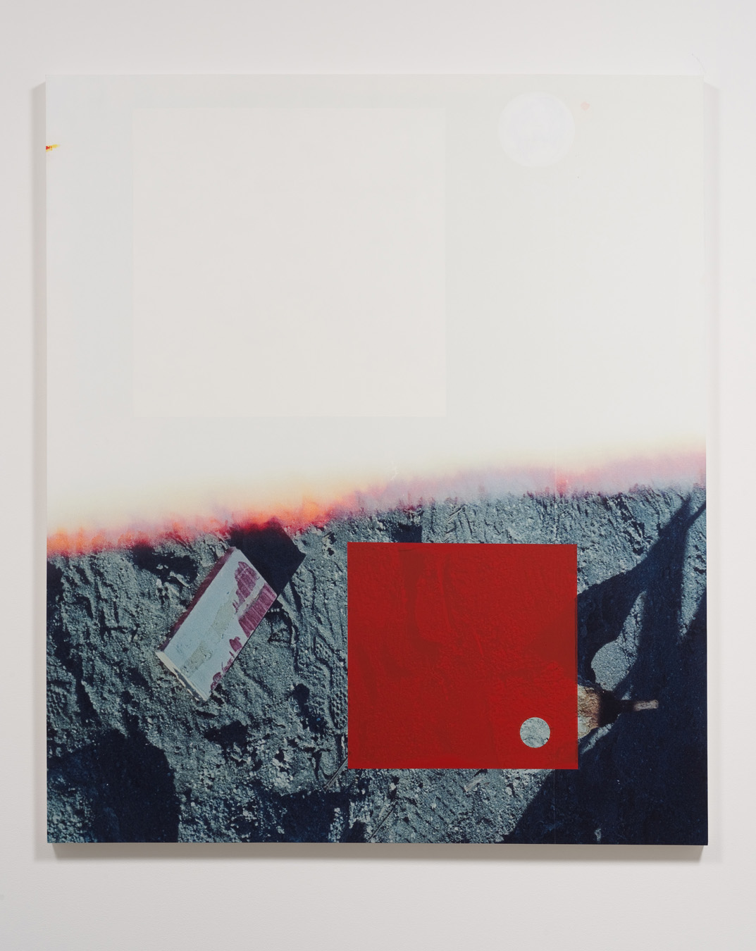 Salton Sea (half ground), 2012  Acrylic, screen ink and UV cured ink on canvas over  panel  77 x 66 inches  195.58 x 167.64 cm