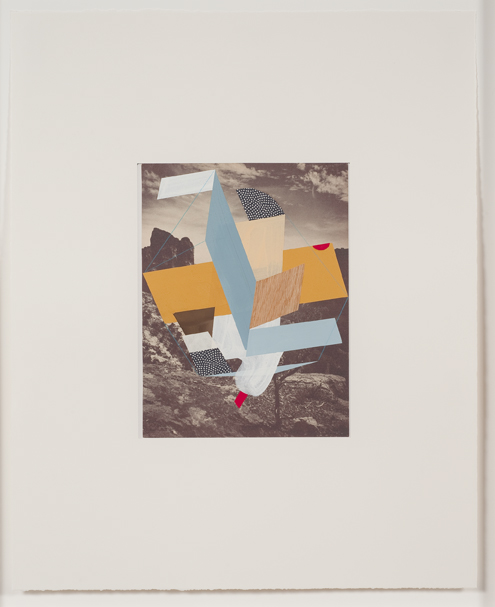 Construction (canyon 2), 2009  Gouache, collage and pencil on archival pigment  print on watercolor paper  23 x 18.5 inches  58.42 x 46.99 cm