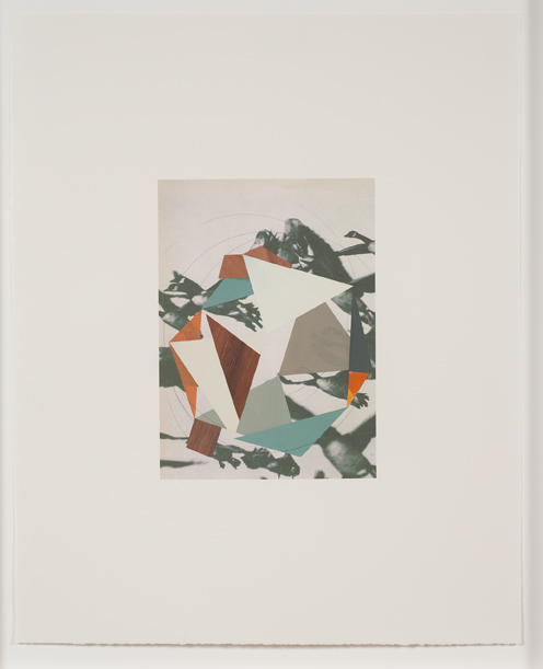Construction (geese), 2009  Gouache, collage and pencil on archival pigment  print on watercolor paper  23 x 18.5 inches  58.42 x 46.99 cm