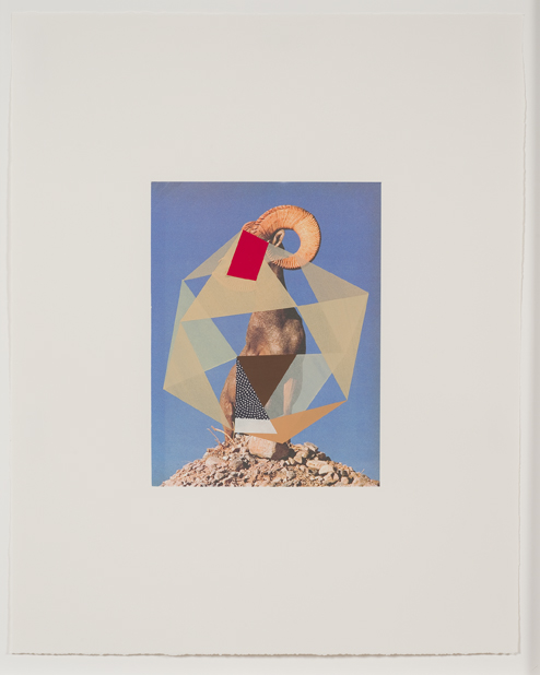 Construction (ram), 2009  Gouache, collage and pencil on archival pigment  print on watercolor paper  23 x 18.5 inches  58.42 x 46.99 cm