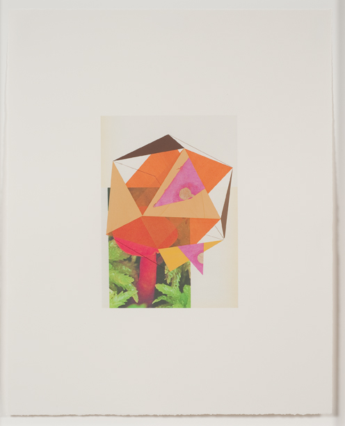 Construction (mushroom), 2009  Gouache, collage and pencil on archival pigment  print on watercolor paper  23 x 18.5 inches  58.42 x 46.99 cm
