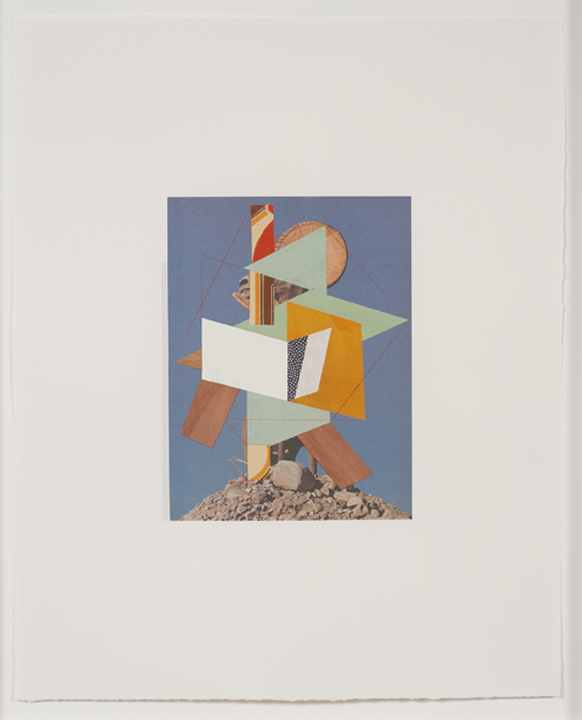Construction (ram 2), 2009  Gouache, collage and pencil on archival pigment  print on watercolor paper  23 x 18.5 inches  58.42 x 46.99 cm