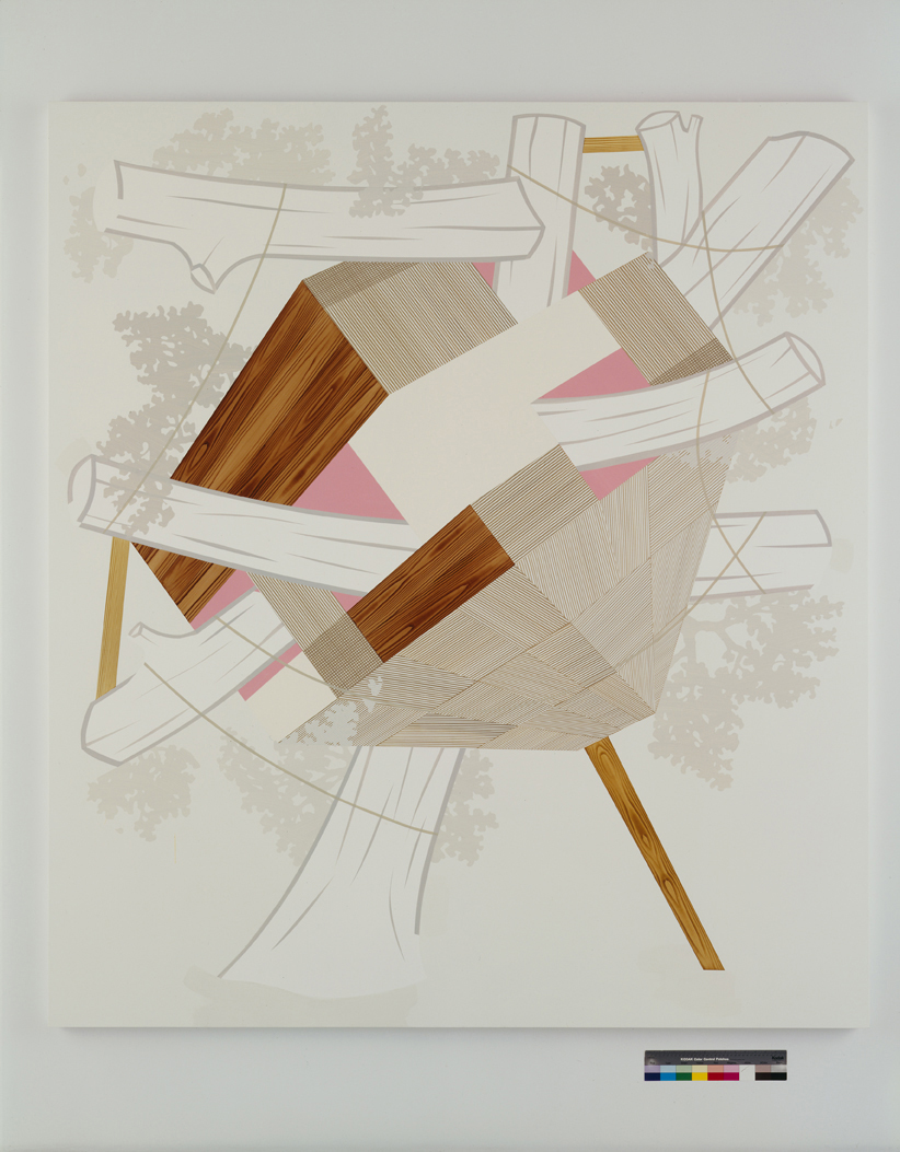 Kickstand, 2004  Acrylic on canvas over panel  90 x 80 inches  228.6 x 203.2 cm