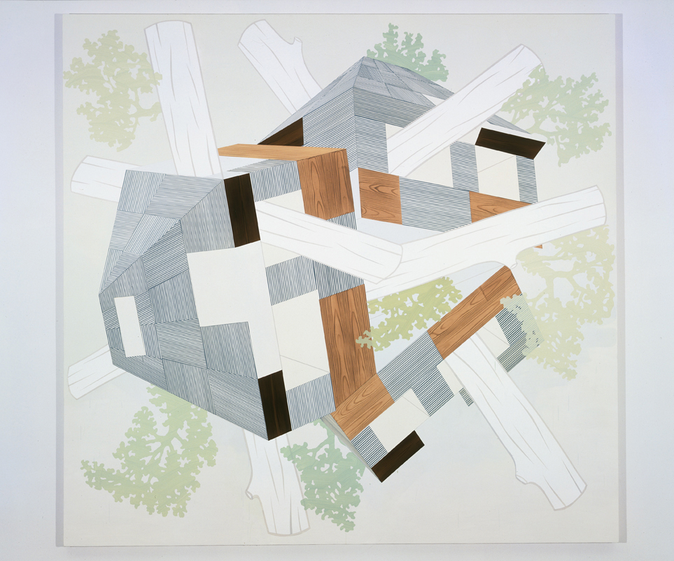 My Dreaming Hill, 2004  Acrylic on canvas over panel  80 x 83 inches  203.2 x 210.82 cm