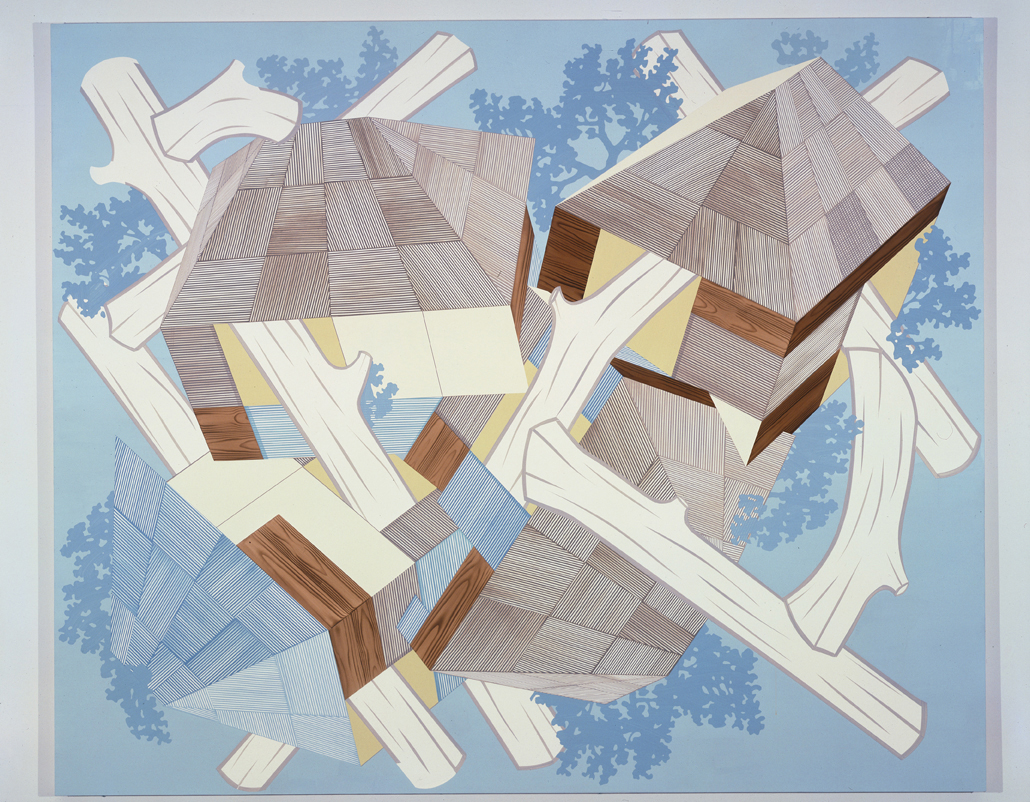 Blue Lodge, 2004  Acrylic on canvas over panel  80 x 96 inches  203.2 x 243.84 cm