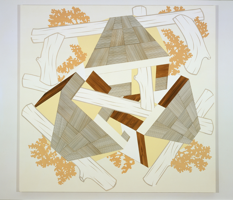 Perambulation, 2004  Acrylic on canvas over panel  80 x 83 inches  203.2 x 210.82 cm
