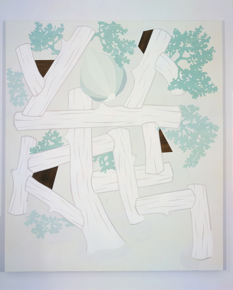 Tree (Altered), 2004  Acrylic on canvas over panel  80 x 70 inches  203.2 x 177.8 cm