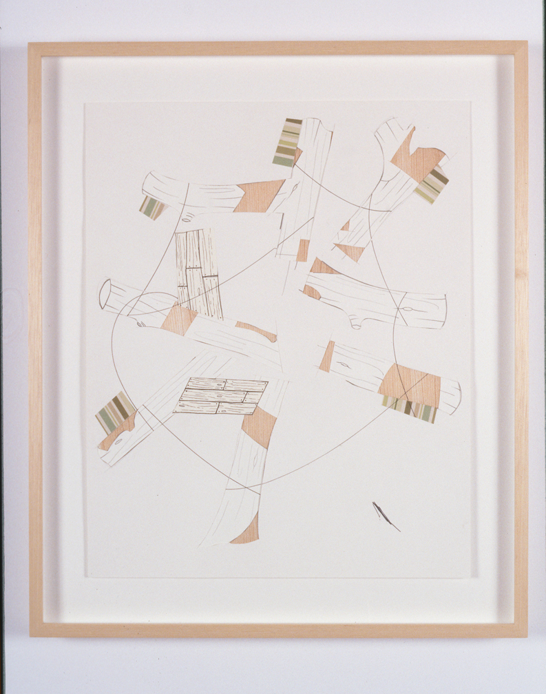 Untitled, 2004  Pencil and collage on paper  17 x 14 inches  43.18 x 35.56 cm