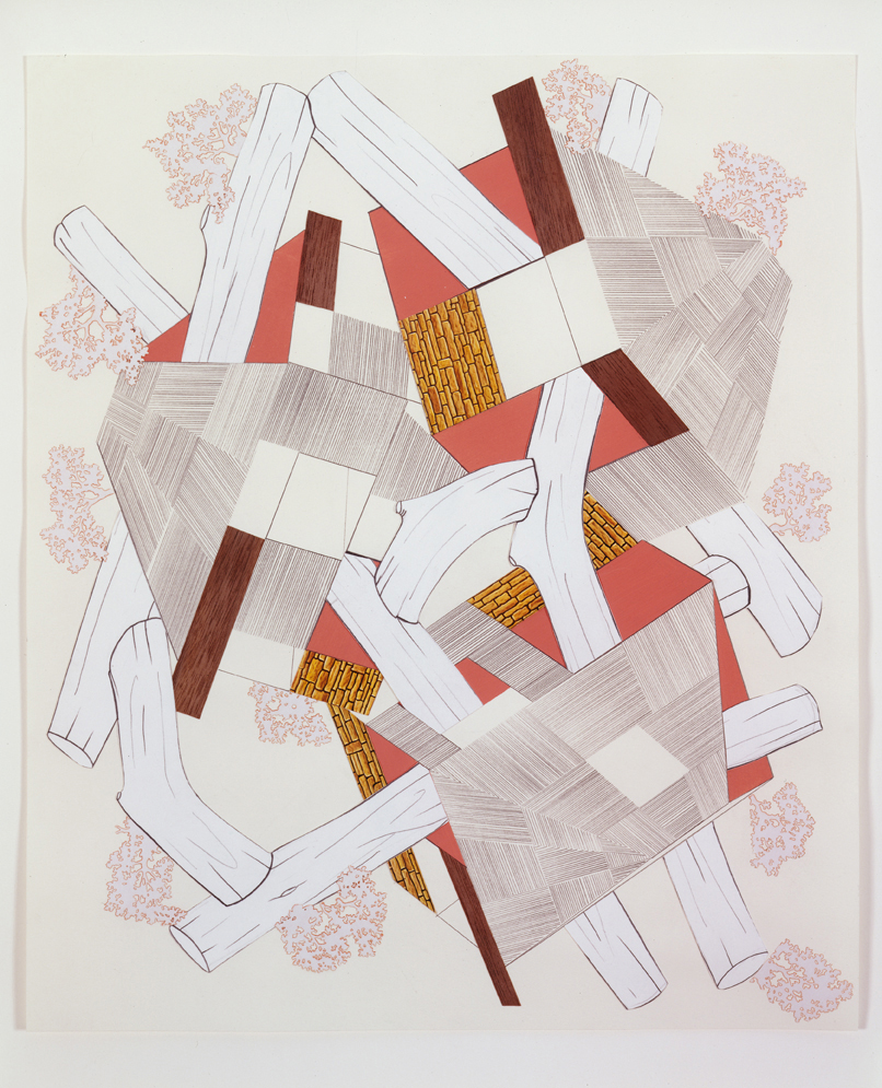 Untitled, 2004  Pencil, gouache and collage on paper  17 x 14 inches  43.18 x 35.56 cm