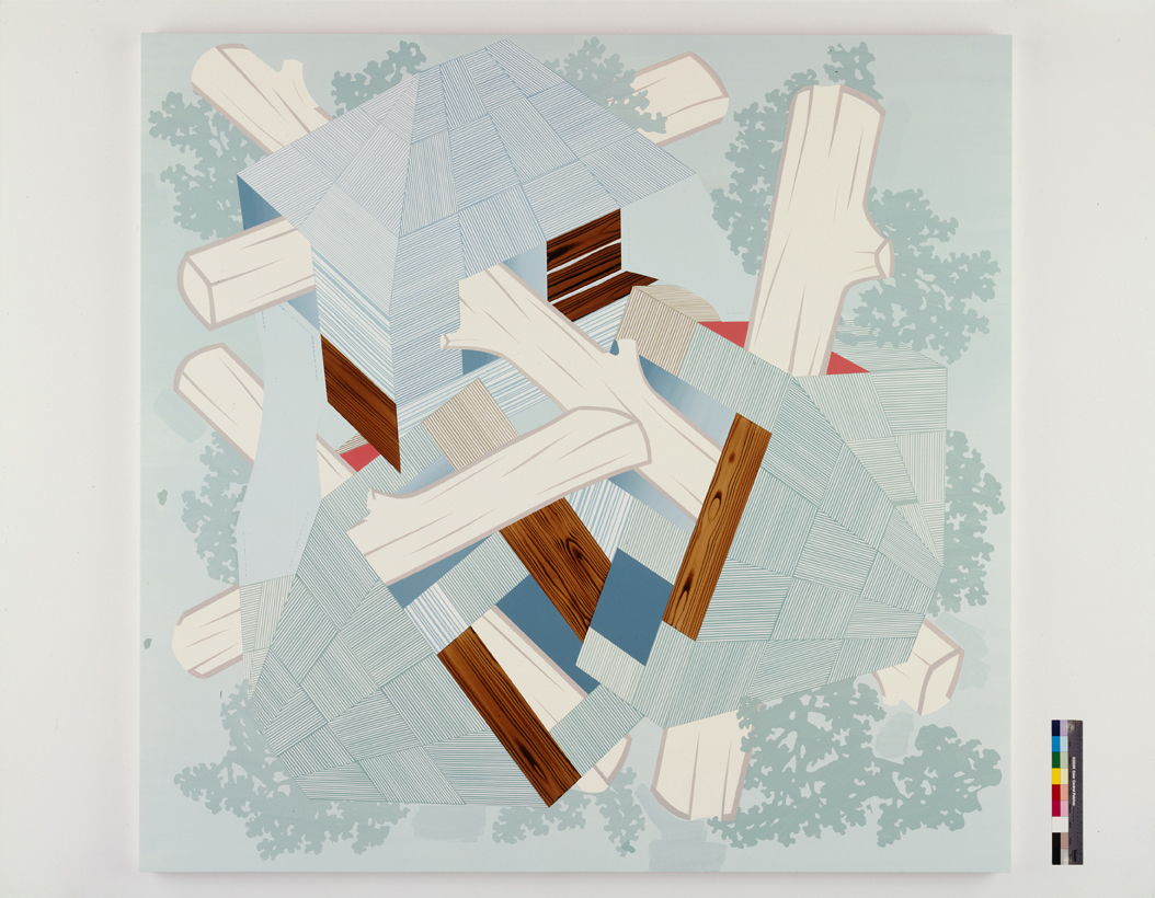 Widening Gyre, 2004  Acrylic on canvas over panel  80 x 83 inches  203.2 x 210.82 cm