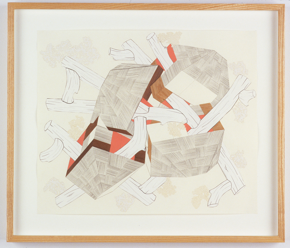 Untitled, 2004  Pencil, gouache and collage on paper  14 x 17 inches  35.56 x 43.18 cm