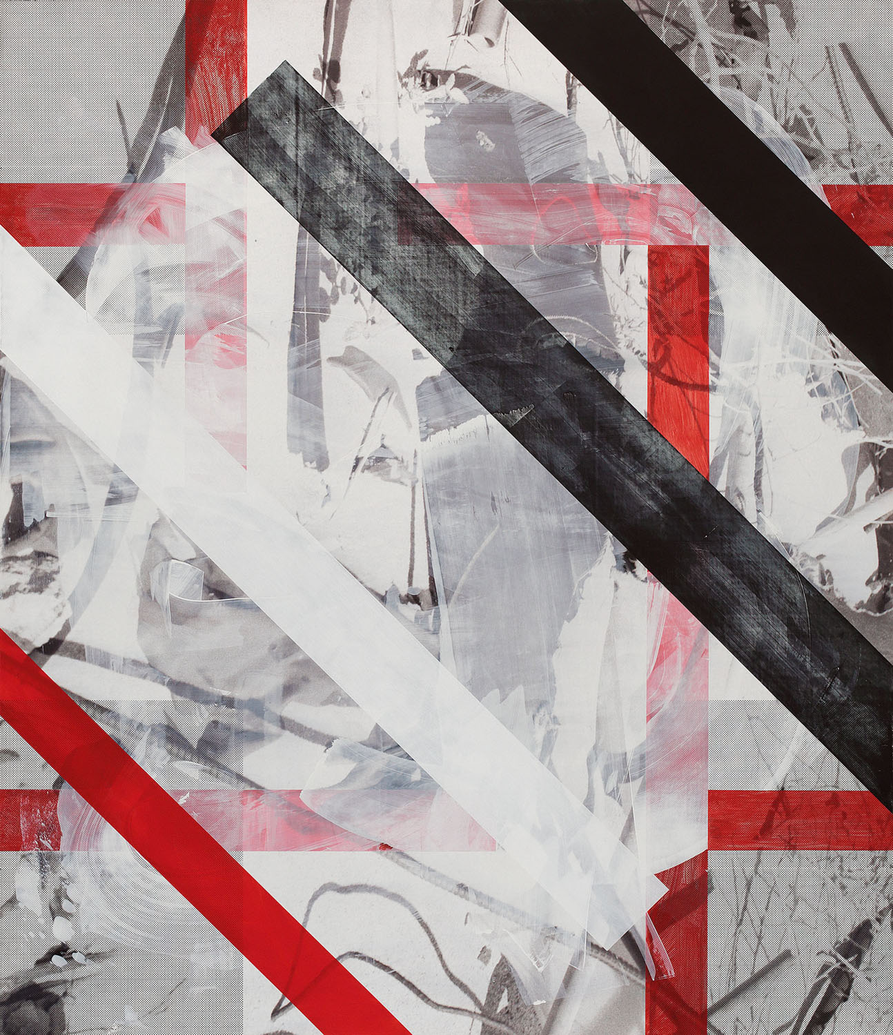 Shame, 2014  Acrylic, oil and UV cured ink on canvas over panel  84 x 72 inches  213.36 x 182.88 cm