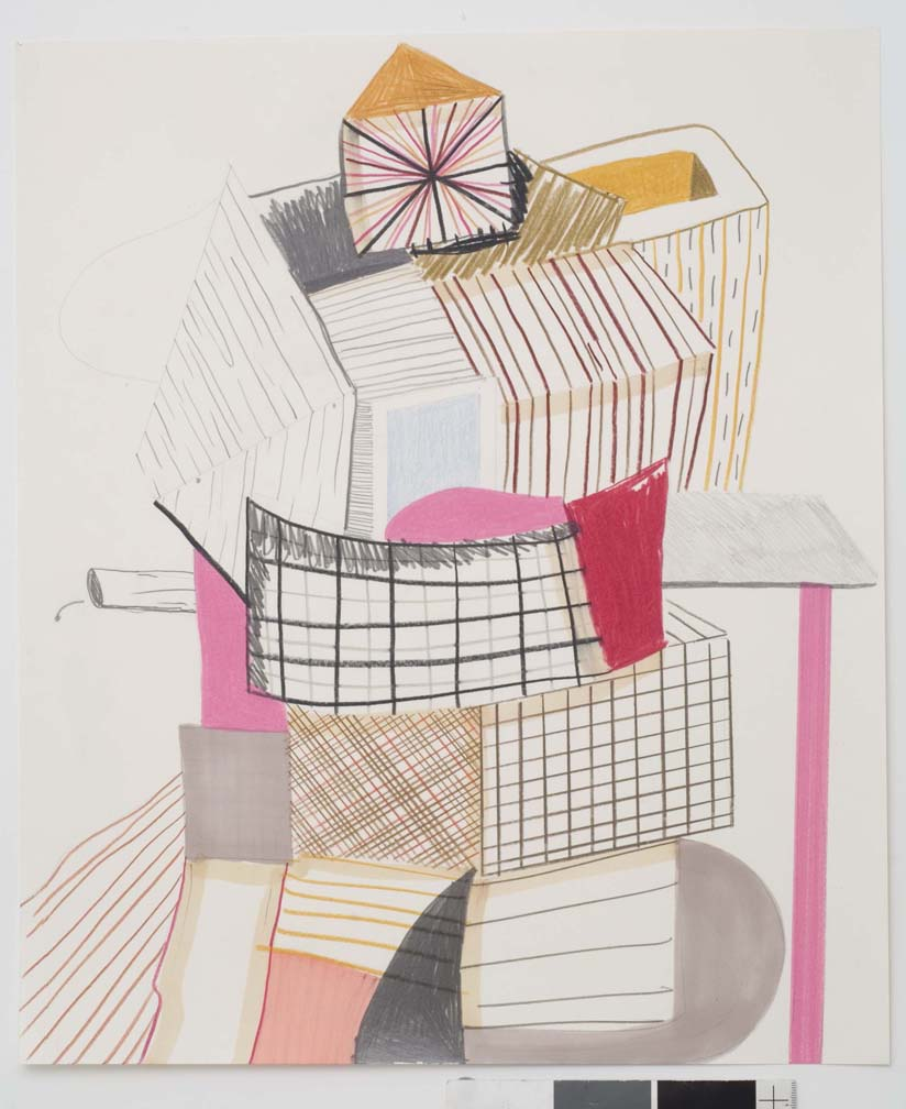Untitled, 2007  Pencil and marker on paper  17 x 14 inches  43.18 x 35.56 cm