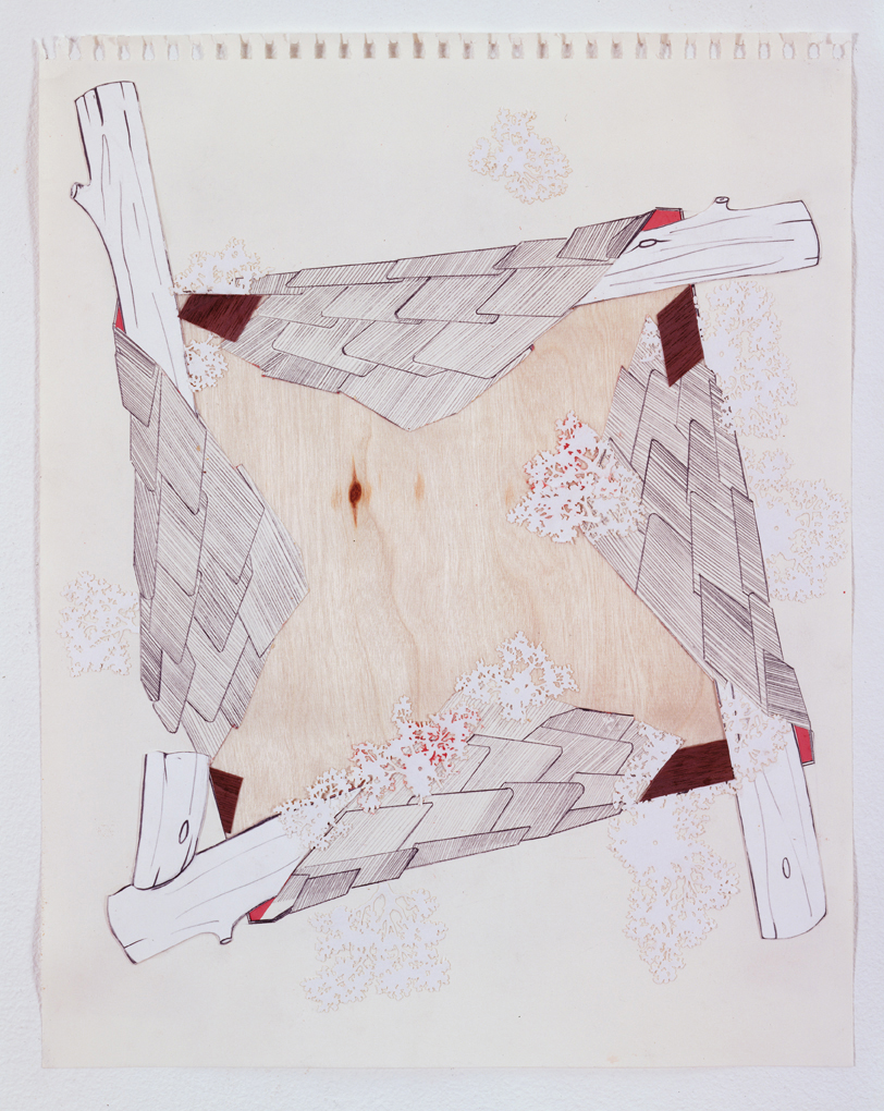 Scoutmaster, 2003  Pencil, gouache and collage on paper  17 x 14 inches  43.18 x 35.56 cm