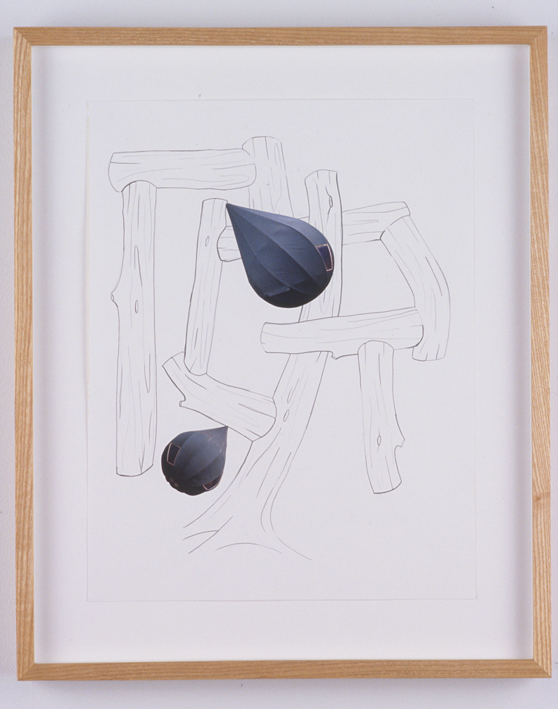 Untitled, 2003  Pencil and collage on paper  14 x 11 inches  35.56 x 27.94 cm