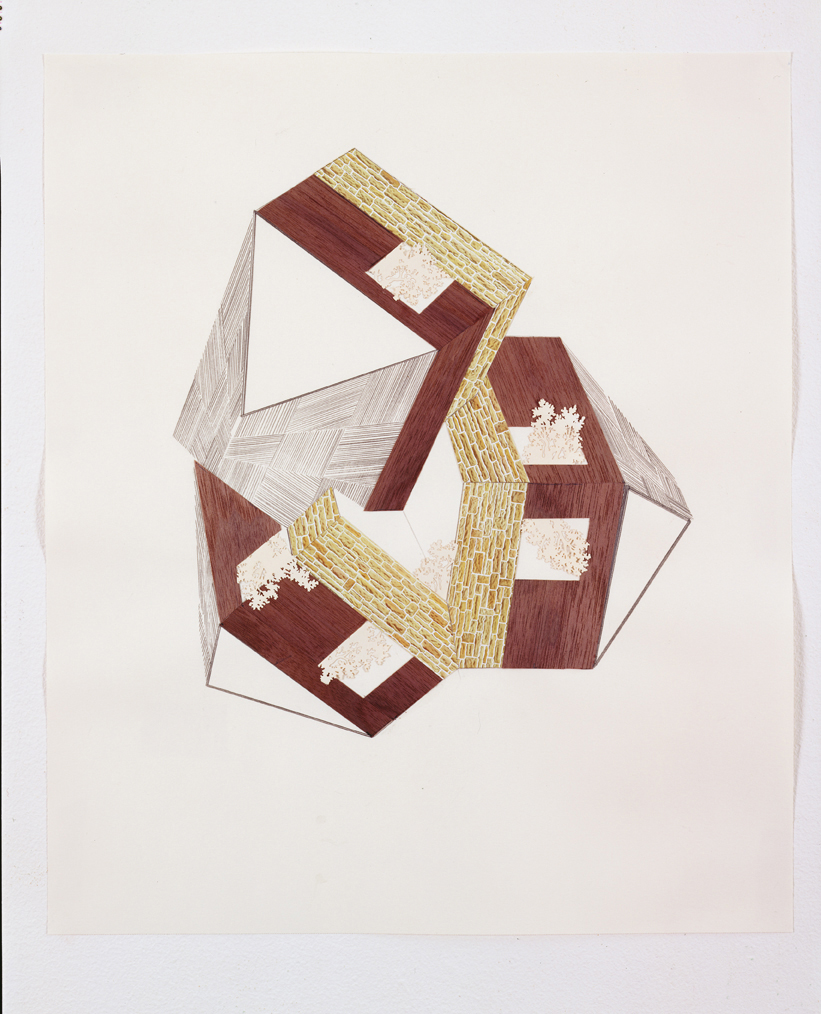 Untitled, 2003  Pencil and collage on paper  17 x 14 inches  43.18 x 35.56 cm