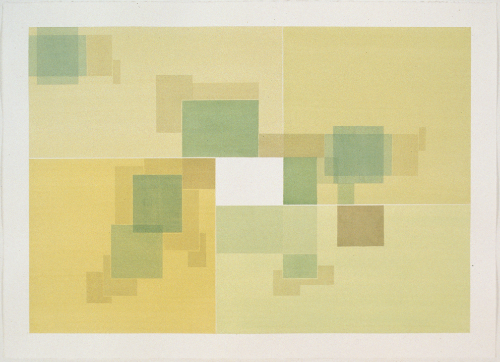 House Plan 2, 1999  Liquid acrylic on paper  22 x 30 inches  55.88 x 76.2 cm
