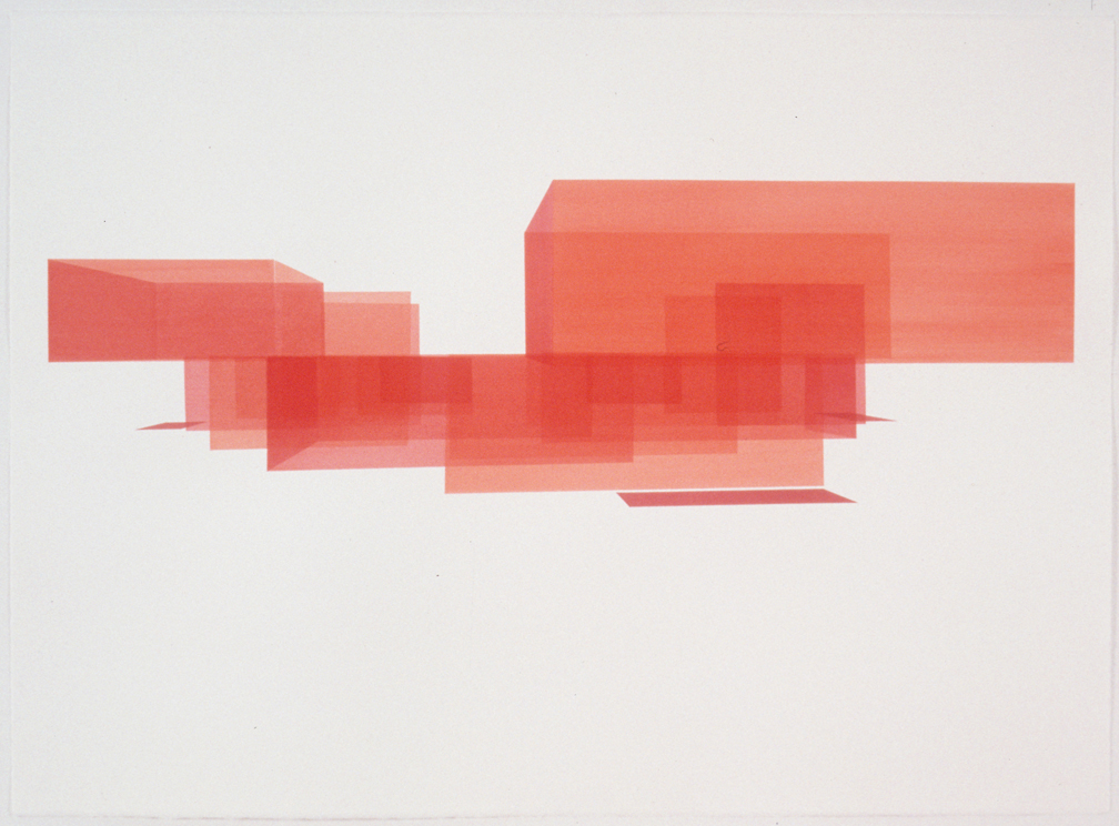 Red House Study, Exterior 10, 1999  Liquid acrylic on paper  22 x 30 inches  55.88 x 76.2 cm