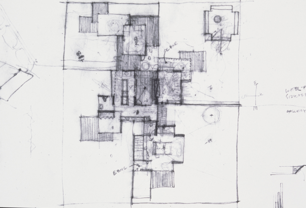 Schematic Plan, 1999  Pencil on vellum  11 x 17 inches  27.94 x 43.18 cm
