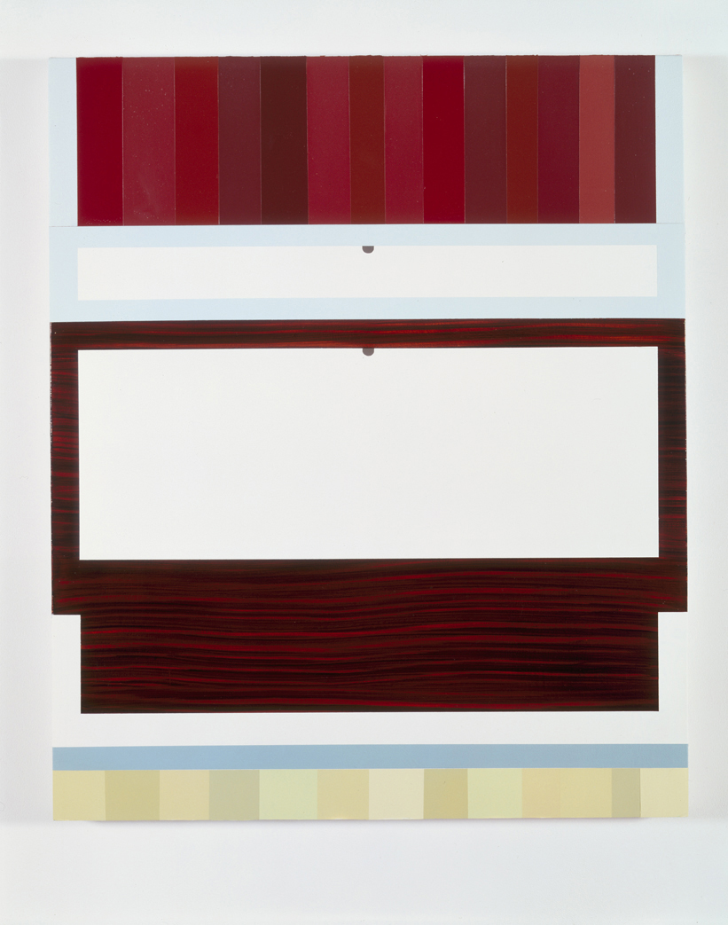 Cabinet, 1998  Acrylic on canvas over panel  36 x 30 inches  91.44 x 76.2 cm