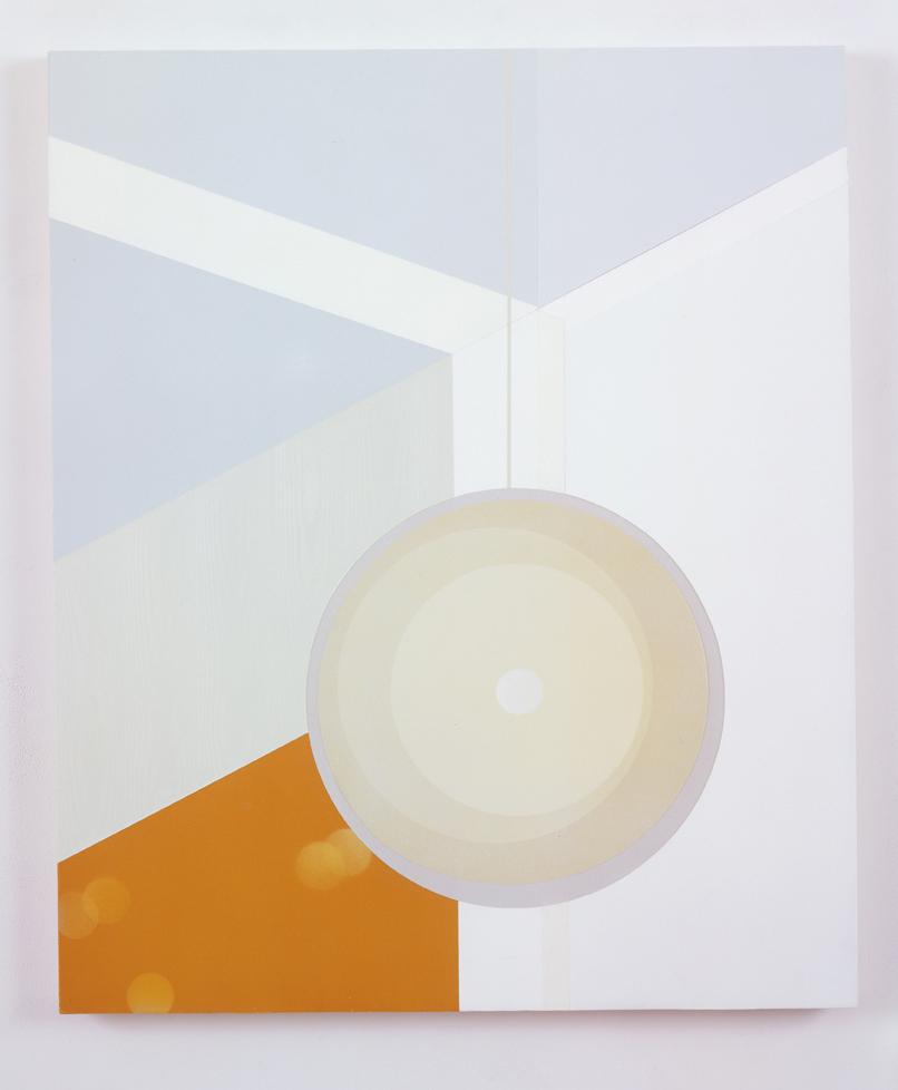 Corner Lamp, 1998  Acrylic on canvas over panel  36 x 30 inches  91.44 x 76.2 cm